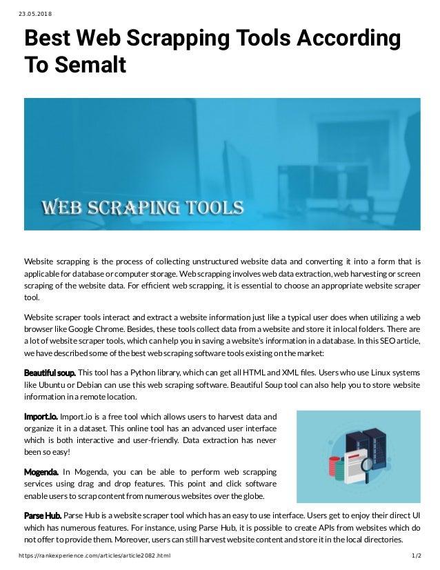 Web scraper software freeware