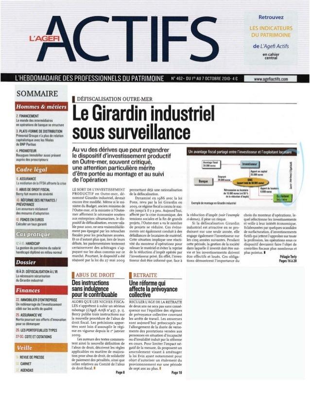 La nécessaire sécurisation du Girardin Industriel