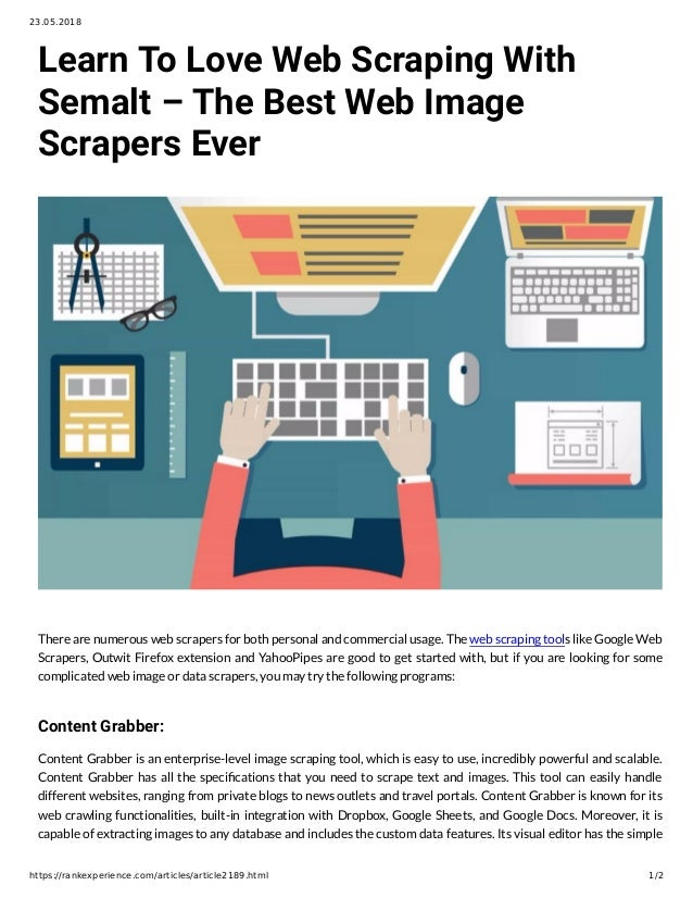 Learn To Love Web Scraping With Semalt – The Best Web Image