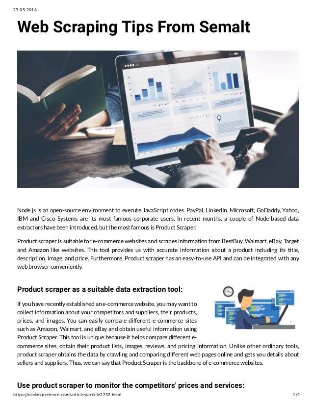 Web Scraping Tips From Semalt