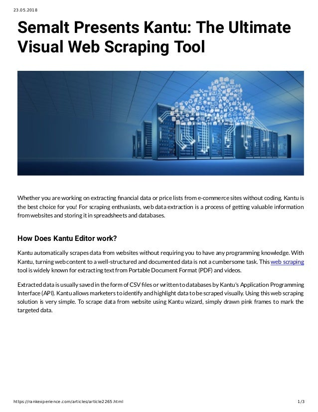 Semalt Presents Kantu: The Ultimate Visual Web Scraping Tool