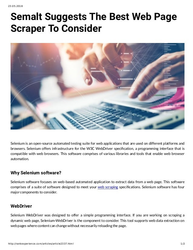 Semalt Suggests The Best Web Page Scraper To Consider