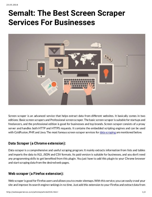 Semalt: The Best Screen Scraper Services For Businesses