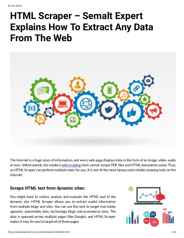 HTML Scraper – Semalt Expert Explains How To Extract Any