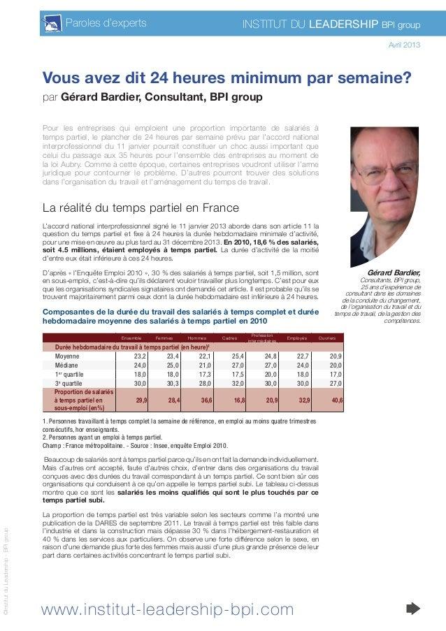 www.institut-leadership-bpi.com Institut du Leadership BPI groupParoles d'experts ©InstitutduLeadership-BPIgroup Vous avez...