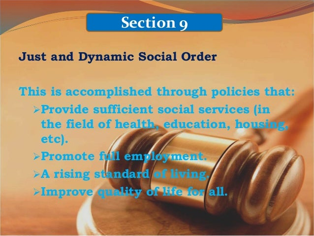 Article 2 section 9 1987 constitution explanation