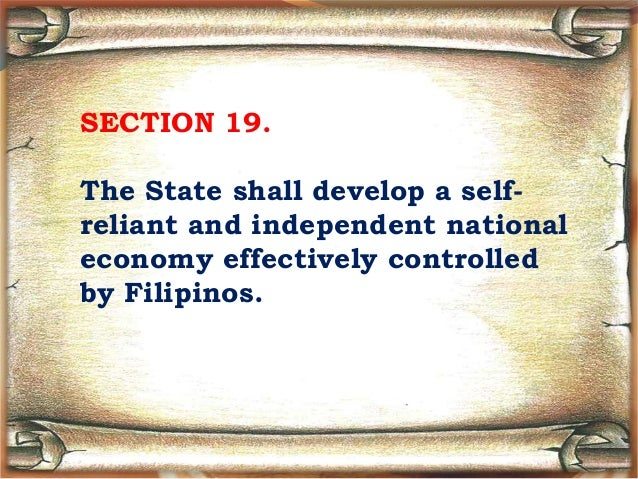 What is a self reliant and independent national economy