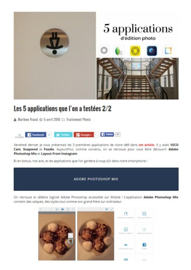5 applications d'édition photo 2/2