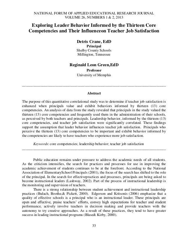 NATIONAL FORUM OF APPLIED EDUCATIONAL RESEARCH JOURNALVOLUME 26, NUMBERS 1 & 2, 201333Exploring Leader Behavior Informed b...