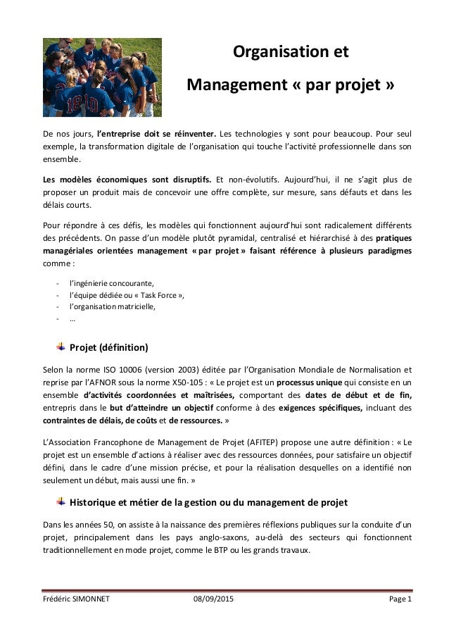 Frédéric  SIMONNET   08/09/2015   Page  1            De   nos   jours,   l'entreprise   doit   s...