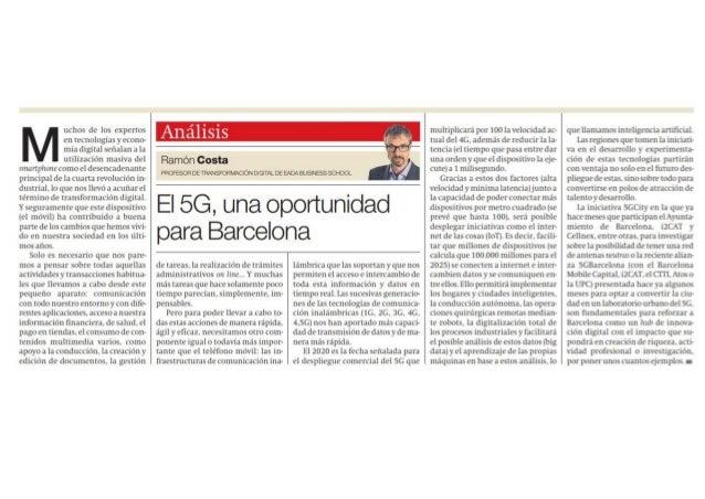 El 5G, una oportunidad para Barcelona