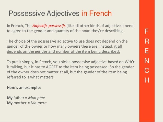 All About The French Possessive