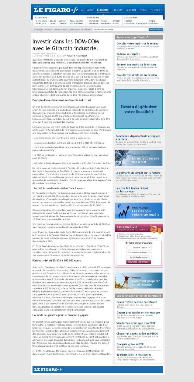 Investir dans les DOM-COM avec le Girardin industriel