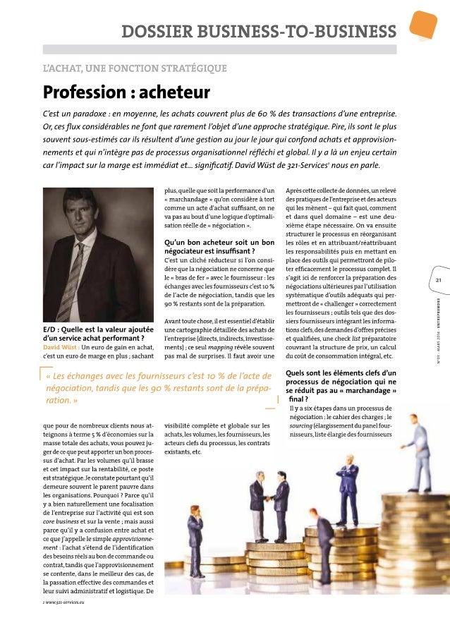 Article achats   magazine entreprendre - mars 2014