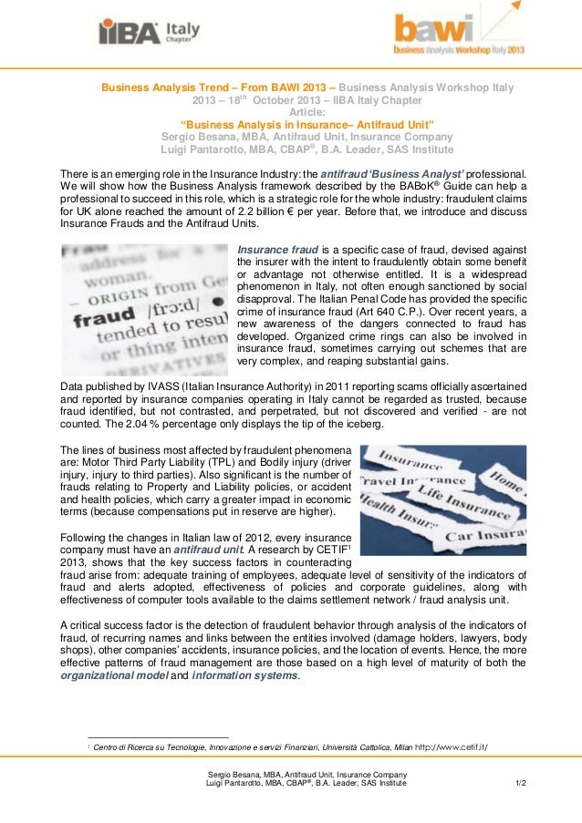 Business Analysis Trend – From BAWI 2013 – Business Analysis Workshop Italy 2013 – 18th October 2013 – IIBA Italy Chapter ...