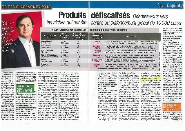 Financière Magenta dans capital Janv 2013