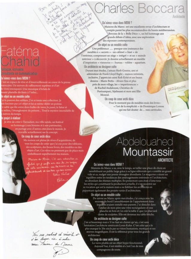 Article Charles Boccara, l'architecte dans le magazine Maisons du Maroc