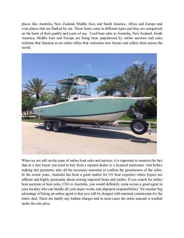 USA Used Boats Sales and Worldwide Export