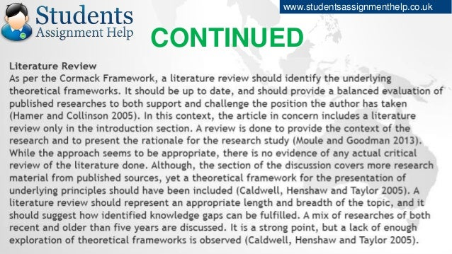 what is an article critique assignment
