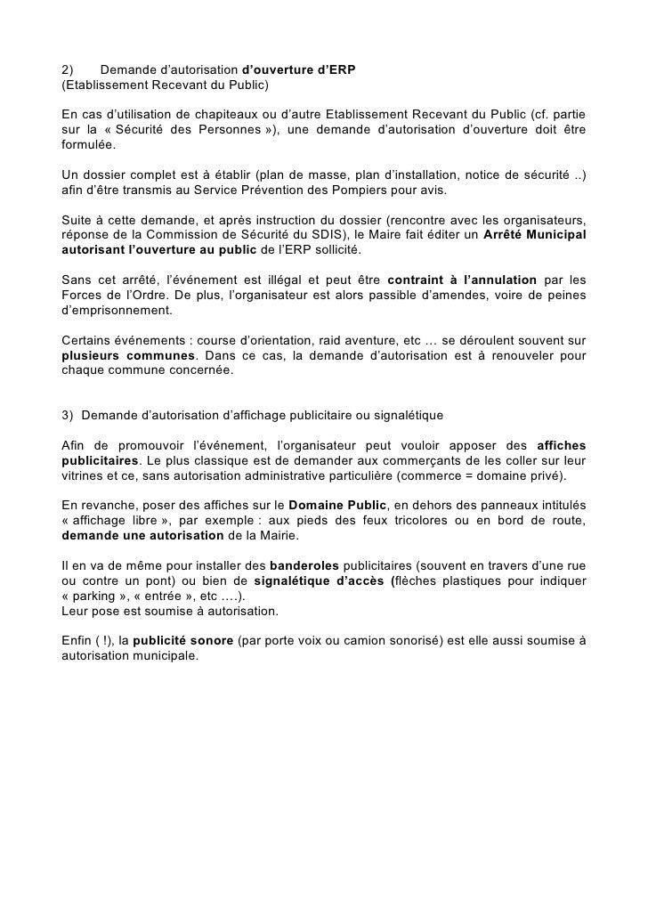 Demande D Emplacement De Commerce Sur L Espace Public