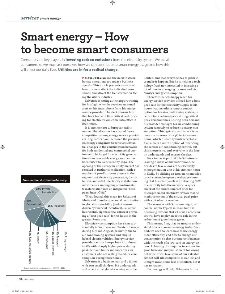 services smart energy     Smart energy – How  to become smart consumers  Consumers are key players in lowering carbon emis...