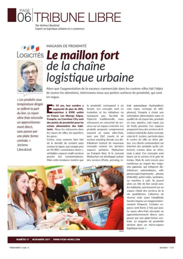 Article froid news novembre 2017