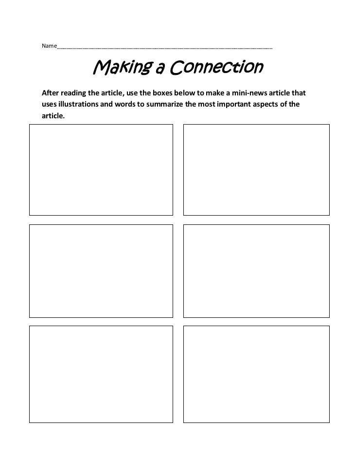 article graphic organizer