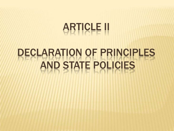 Article iiDeclaration of principles and state policies<br />