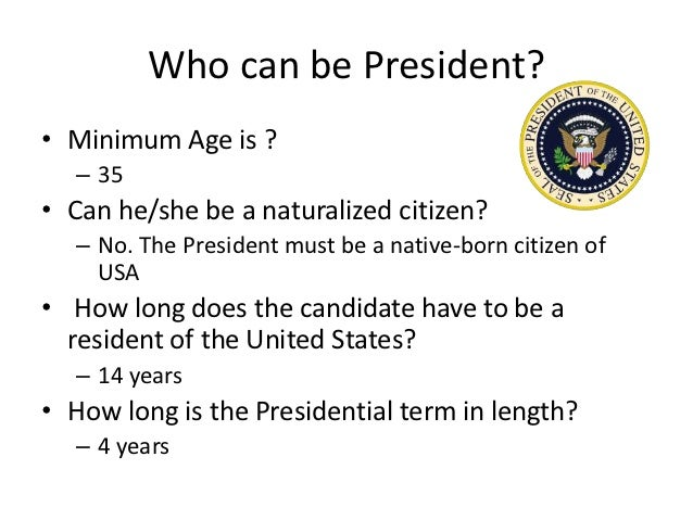 Can Naturalized Citizen Be President