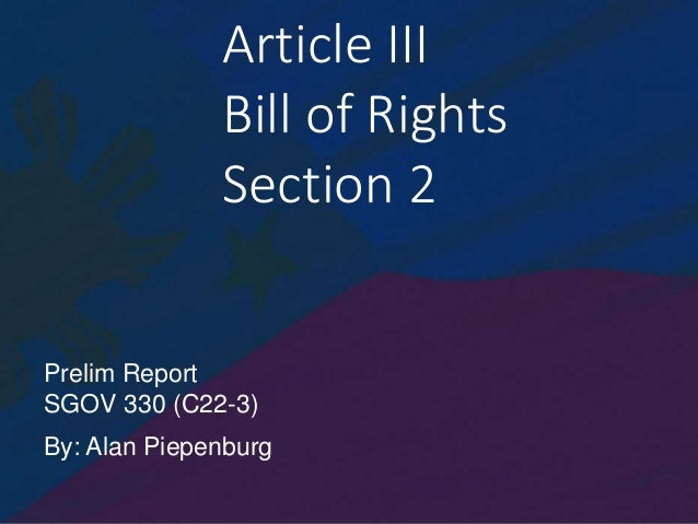 Philippine Bill of Rights Article III Section 2