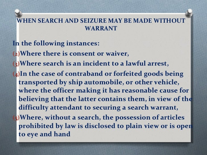reasonable searches and seizures Definition of search and seizure in the legal dictionary searches and seizures are used to produce evidence for the prosecution of reasonable expectation of.