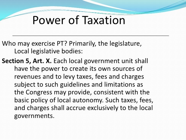 Chapter 1 Of the Extent of the Legislative Power