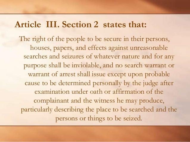 Article iii section 2