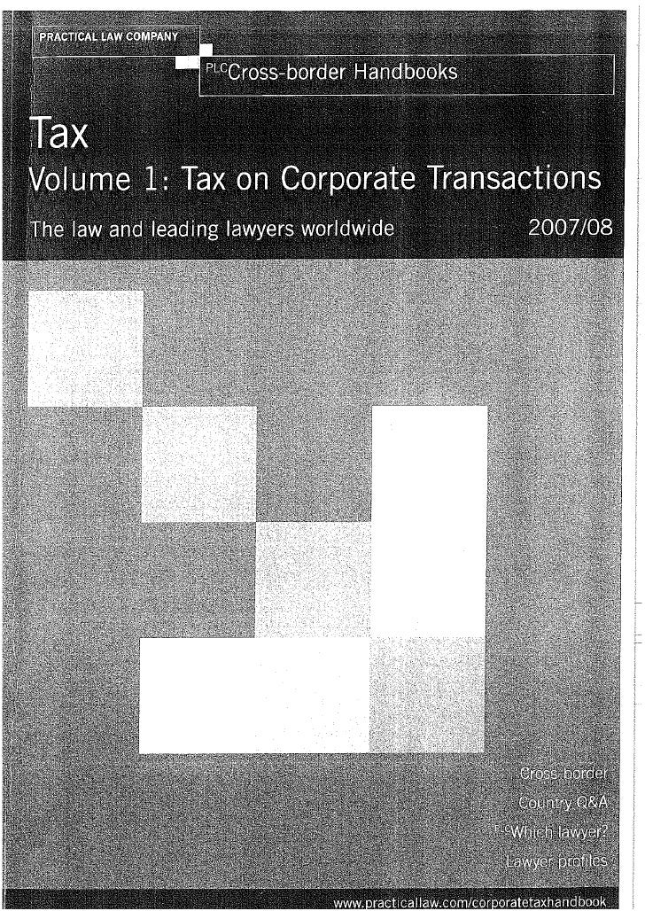 Article In Tax On Corporate Transactions