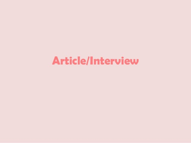 Article/Interview