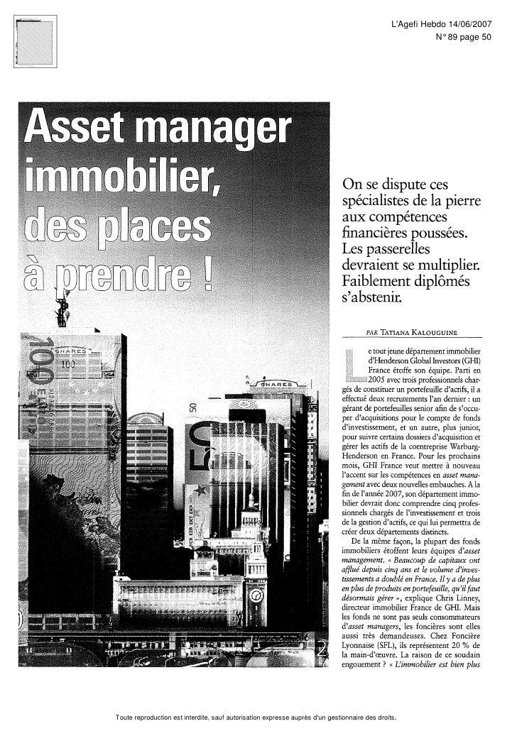 LAgefi Hebdo 14/06/2007                                                                                                   ...