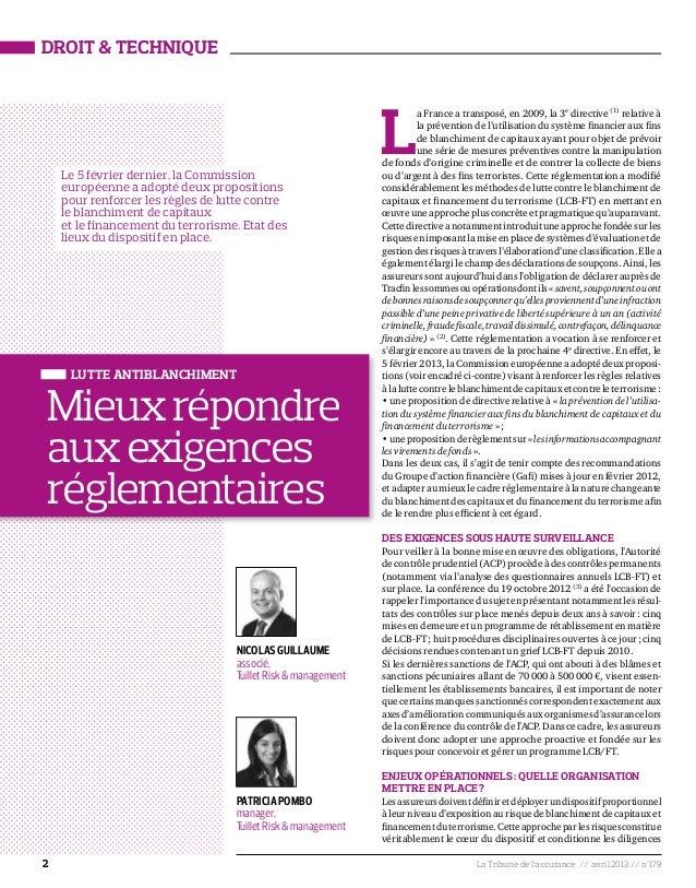 2 La Tribune de l'assurance // avril 2013 // n°179Droit & techniqueLa France a transposé, en 2009, la 3edirective (1)relat...