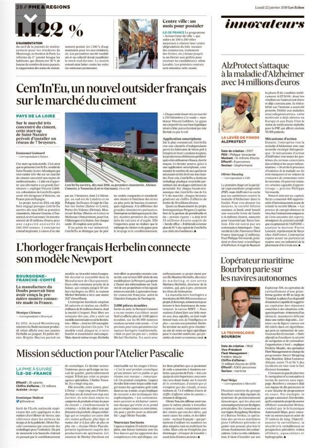 Article les echos Cem'In'Eu 20180121