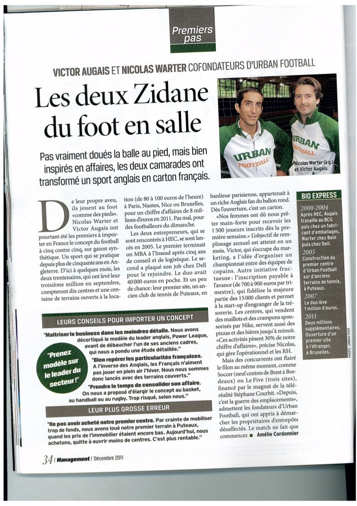 Victor Augais et Nicolas Warter cofondateurs d'Urban Football