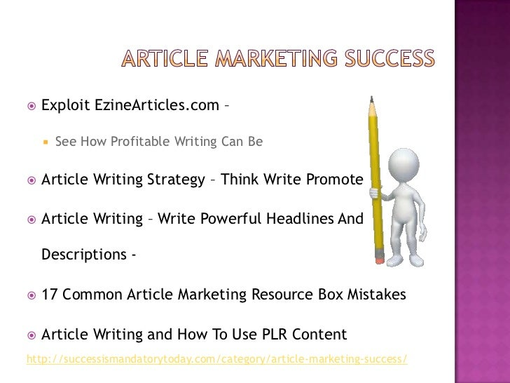 Article marketing success tips Slide 2