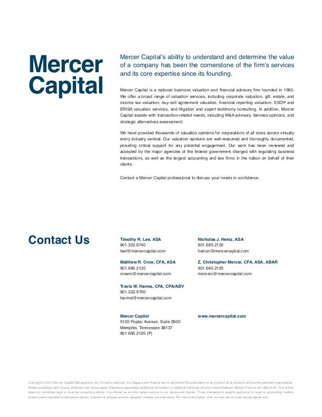 Mercer Capitals Noncompete Agreements For Section 280g Compliance