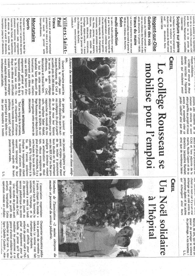 Article Oise Hebdo Decembre 2013