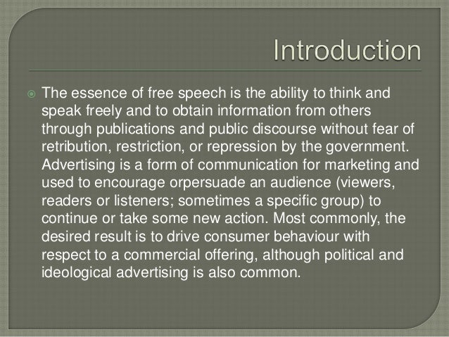 Article on advertisement & freedom Slide 2