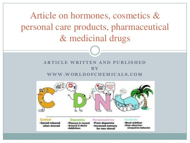 Article on hormones, cosmetics & personal care products, medicinal dr…