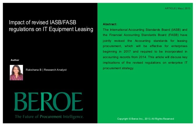ARTICLE   May   2013 Abstract: The International Accounting Standards Board (IASB) and the Financial Accounting Standards ...