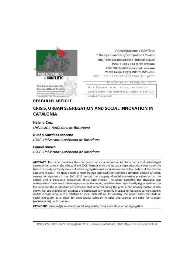 PACO, ISSN: 2035-6609 - Copyright © 2017 - University of Salento, SIBA: http://siba-ese.unisalento.it PArtecipazione e COn...