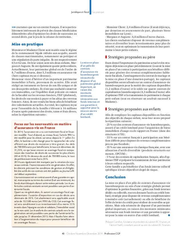 Juridique et fiscal Cas pratique  >>> coutumes que sur un contrat français. Il sera particu-lièrement  intéressant de prév...