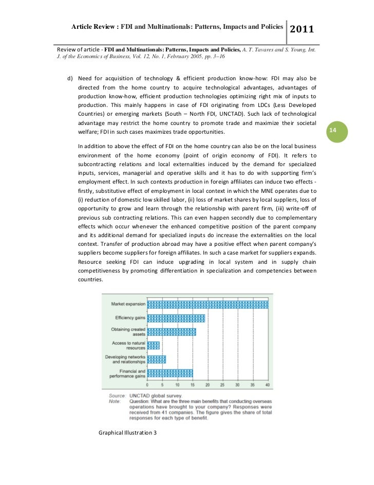 article on fdi To some extent, the relatively low level of manufactured exports from the us affiliates of foreign corporations — and the relatively high level of exports from foreign affiliates in the wholesale industry — may be an artifact of the way the department of commerce collects data on foreign investment in the united states.