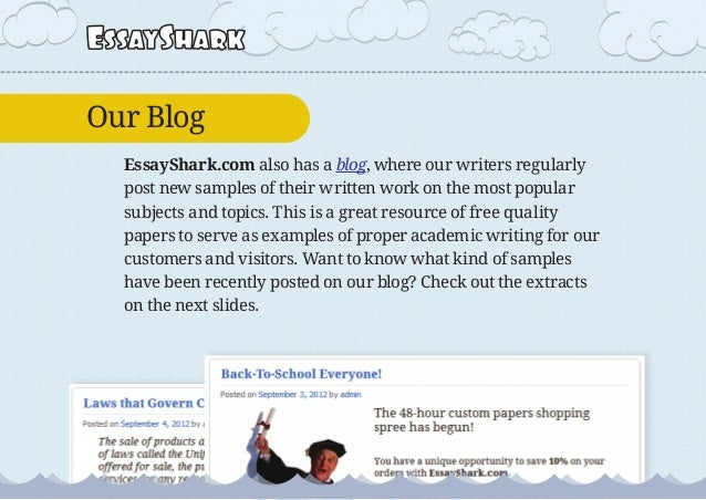 Free academic essays samples