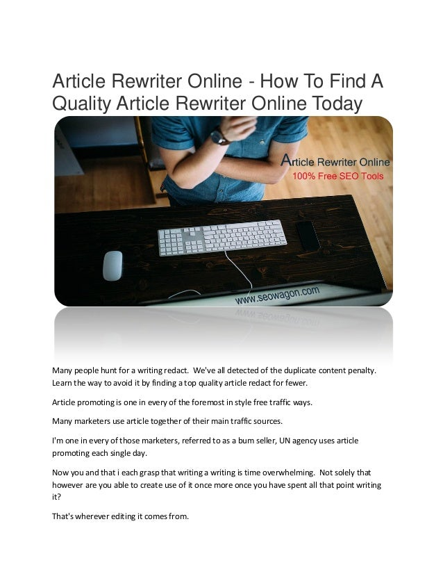 Article rewriting services